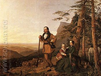 The Promised Land The Grayson Family 1850 - William Smith Jewett reproduction oil painting