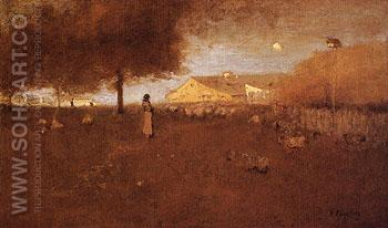 Old Farm Montclair 1893 - George Inness reproduction oil painting