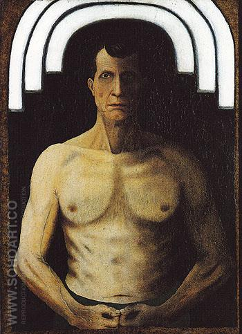 Self Portrait 1929 - John Kane reproduction oil painting
