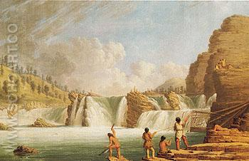 Falls at Colville 1848 - Paul Kane reproduction oil painting
