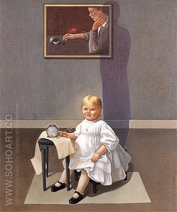 Double Portrait of the Artist in Time 1935 - Helen Lundeberg reproduction oil painting