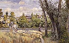 Sunlight on the Road Pontoise 1874 - Camille Pissarro reproduction oil painting