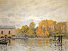 Waterworks at Marly 1876 - Alfred Sisley reproduction oil painting
