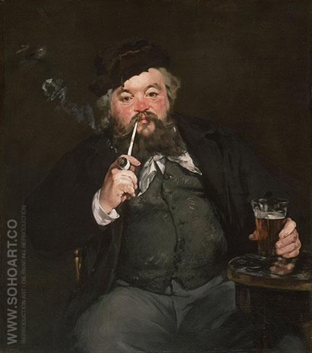 La Bon Bock 1873 - Edouard Manet reproduction oil painting