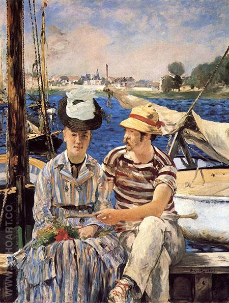 Argenteuil 1874 - Edouard Manet reproduction oil painting