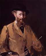 Self Portrait with Palette 1879 - Edouard Manet reproduction oil painting