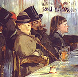 At the Cafe 1878 - Edouard Manet reproduction oil painting