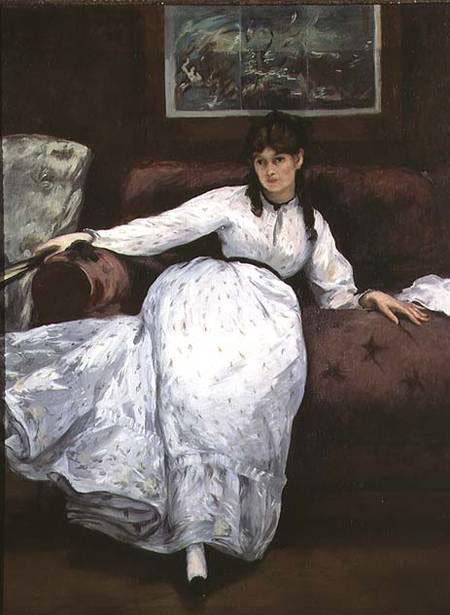 Repose Berthe Morisot 1870 - Edouard Manet reproduction oil painting