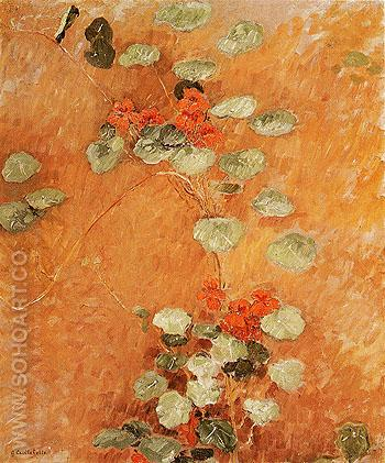 Nasturtiums 1892 - Gustave Caillebotte reproduction oil painting