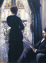 Interior Woman at the Window 1880 - Gustave Caillebotte