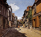 Rue de la Bavolle Honfleur 1864 - Claude Monet reproduction oil painting