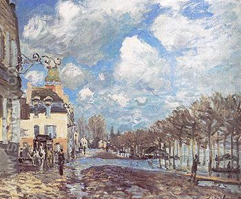 Flood at Port Marly 1876 - Alfred Sisley reproduction oil painting