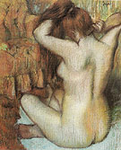 Woman Combing Her Hair c1886 - Edgar Degas reproduction oil painting