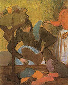 At the Milliners c1905 - Edgar Degas reproduction oil painting