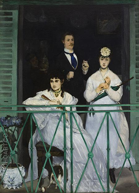 The Balcony 1868 - Edouard Manet reproduction oil painting