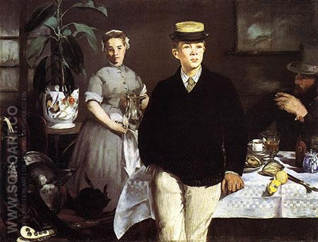 Lunch in the Studio 1868 - Edouard Manet reproduction oil painting