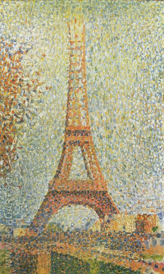 The Eiffel Tower 1889 - Georges Seurat reproduction oil painting