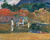 Woman And A White Horse 1903 - Paul Gauguin reproduction oil painting