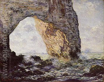 The Manneporte near Etretat 1886 - Claude Monet reproduction oil painting