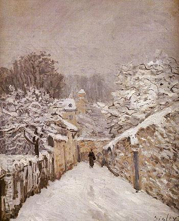 Snow at Louveciennes 1875 - Alfred Sisley reproduction oil painting