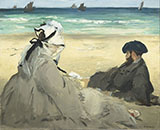 On the Beach 1873 - Edouard Manet