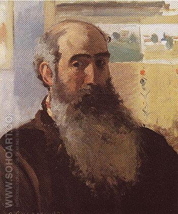 Self Portrait 1873 - Camille Pissarro reproduction oil painting