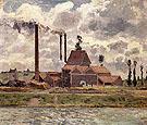 Factory near Pontoise 1873 - Camille Pissarro