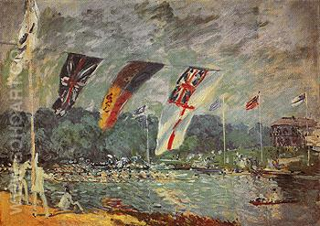 Regatta at Molesey 1874 - Alfred Sisley reproduction oil painting
