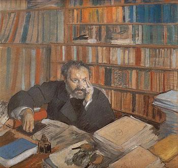 Portrait of Louis Edmond Duranty 1879 - Edgar Degas reproduction oil painting