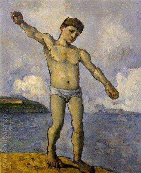 Bather with Raised Arm c1878 - Paul Cezanne reproduction oil painting