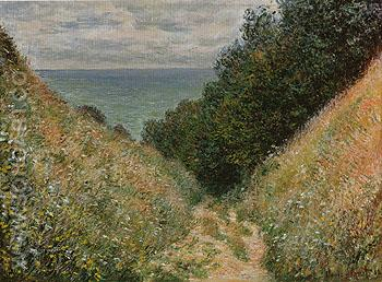 Road at La Cavee Pourville 1882 - Claude Monet reproduction oil painting