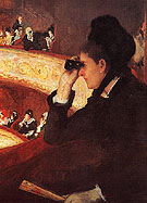 At the Opera 1880 - Mary Cassatt reproduction oil painting