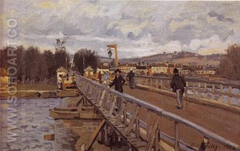 Foot Bridge at Argenteuil 1872 - Alfred Sisley reproduction oil painting