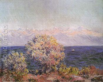 Cap Dantibes Mistral 1888 - Claude Monet reproduction oil painting