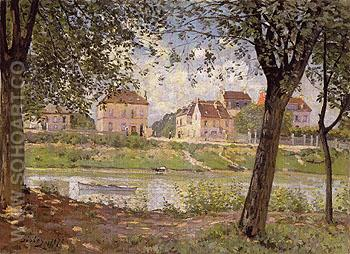 Villeneuve la Garenne on the Seine 1872 - Alfred Sisley reproduction oil painting