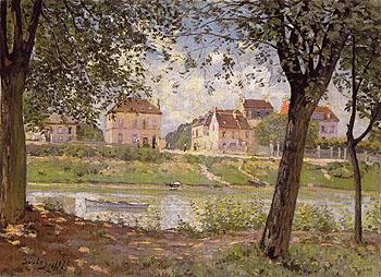 Villeneuve la Garenne on the Seine 1872 - Alfred Sisley reproduction oil painting