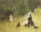In a Park On the Grass 1874 - Berthe Morisot