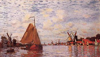 The Zaan at Zaandam 1871 - Claude Monet reproduction oil painting