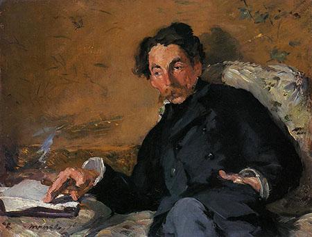 Portrait of Stephane Mallarme 1876 - Edouard Manet reproduction oil painting