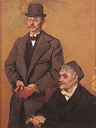 Henri Rouart and His Son Alexis c1895 - Edgar Degas reproduction oil painting