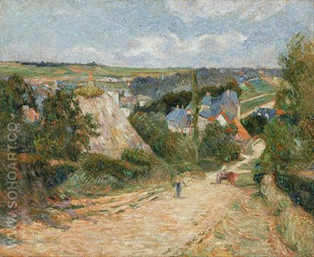 Entrance to the Village of Osny 1883 - Paul Gauguin reproduction oil painting
