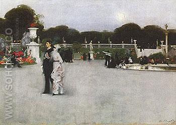 The Luxembourg Gradens 1879 - John Singer Sargent reproduction oil painting