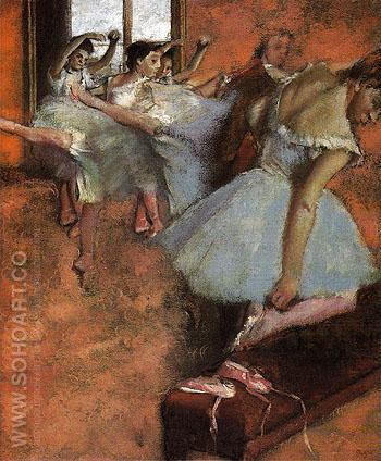 The Dance Class c1880 - Edgar Degas reproduction oil painting