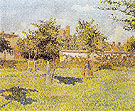 Woman in a Meadow Spring Eragny sur Epte 1888 - Camille Pissarro reproduction oil painting