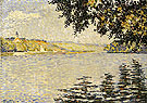 View of the Seine at Herblay opus 203 1889 - Paul Signac