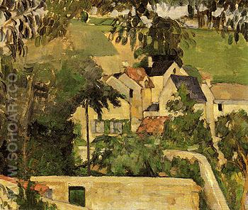 Quartier Four Auvers sur Oise c1873 - Paul Cezanne reproduction oil painting