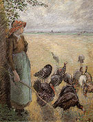 Turkey Girl 1884 - Camille Pissarro reproduction oil painting