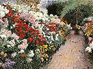 Chrysanthemums 1888 - Dennis Miller Bunker reproduction oil painting