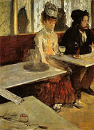 In a Cafe The Absinthe Drinker c1875 - Edgar Degas reproduction oil painting