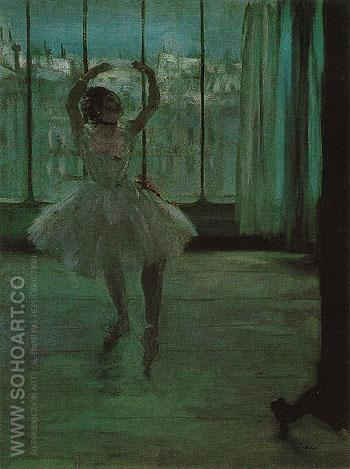 Ballerina in Pose for a Photographer 1875 - Edgar Degas reproduction oil painting